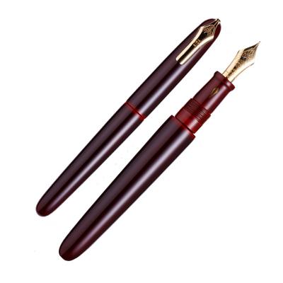 中屋万年筆×趣味の文具箱 ライターモデル ポータブル赤溜 廻り止めペン先