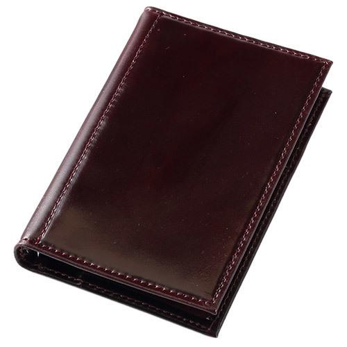 アシュフォード×趣味の文具箱 バーガンディコードバン システム手帳 マイクロ5(リング径8mm)