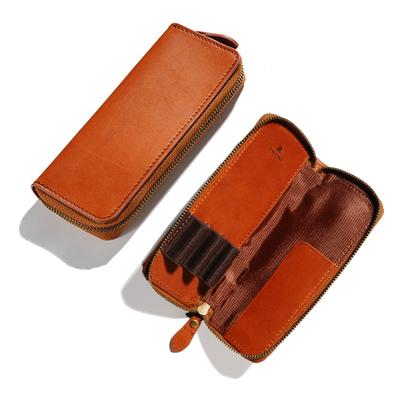アシュフォード×趣味の文具箱 トラッドブラウン 3本挿しペンケース
