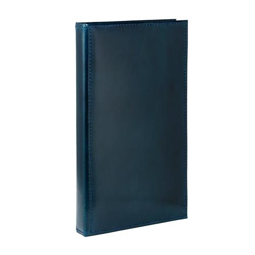 アシュフォード×趣味の文具箱 ブルーコードバン システム手帳 バイブルサイズ