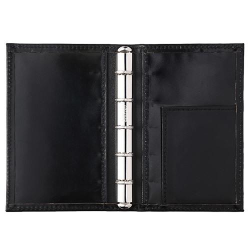 アシュフォード×趣味の文具箱 ブラックコードバン システム手帳 マイクロ5(リング径11mm)